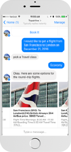 Virtual Agent for Airlines